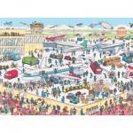 Nathan-86851 Puzzle 150 Teile Maxi - Wo ist Charlie ?: Charlie am Flughafen