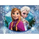 Puzzle  Nathan-86858 Frozen: Anna und Elsa