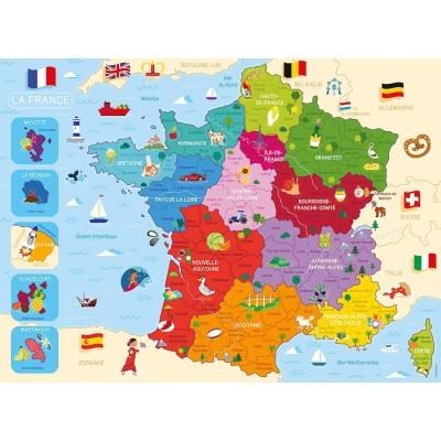 Puzzle  Nathan-86875 Karte von Frankreich