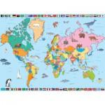 Puzzle  Nathan-86935 Weltkarte