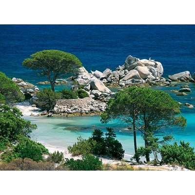 Puzzle  Nathan-87459 Strand von Palombaggia, Korsika