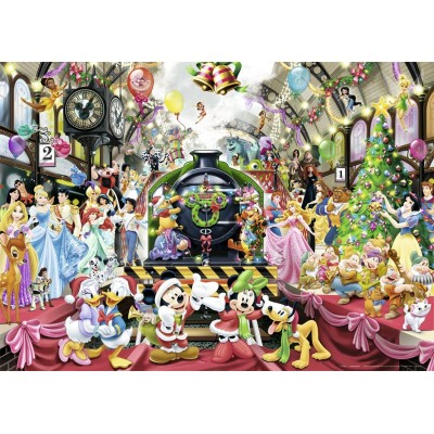 Puzzle  Nathan-87565 Weihnachtszauber mit Disney
