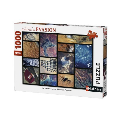 Puzzle  Nathan-87573 Welt gesehen von Thomas Pesquet