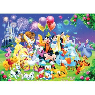 Puzzle  Nathan-87616 Die Disney-Familie