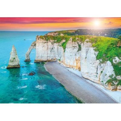 Puzzle  Nathan-87630 Falaises d'Etretat, Frankreich