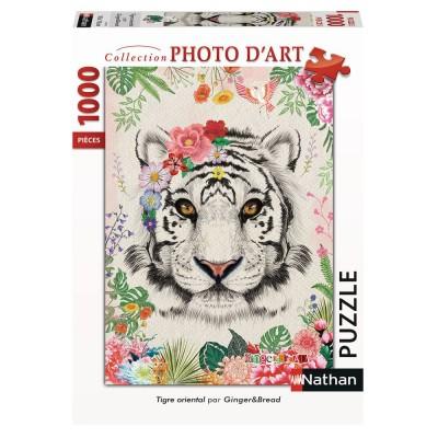 Puzzle  Nathan-87635 Orientalischer Tiger
