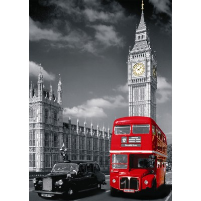 Puzzle  Nathan-87735 London: Roter Autobus