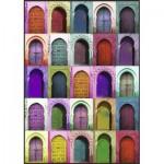 Puzzle  Nathan-87783 Bunte Türen