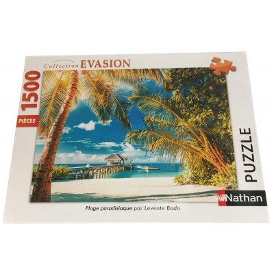 Puzzle  Nathan-87794 Levente Bodo - Paradies-Strand