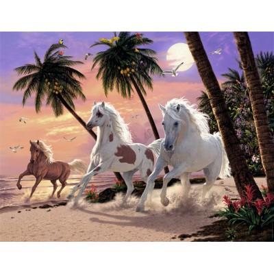 Puzzle  Nathan-87882 Pferde der Dämmerung