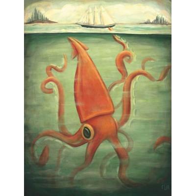 Puzzle  New-York-Puzzle-EM1923 XXL Teile - Kraken Underneath