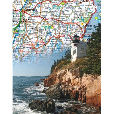 Puzzle  New-York-Puzzle-NG1852 Maine State Map Mini