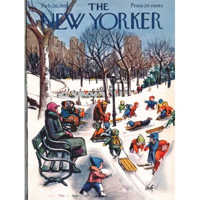 Puzzle  New-York-Puzzle-NY1886 XXL Teile - Sledding in the Park