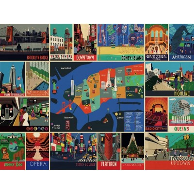 Puzzle  New-York-Puzzle-PT1961 XXL Teile - New York Collage