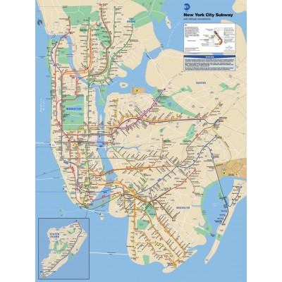 Puzzle  New-York-Puzzle-SW103 New York Subway Map Mini