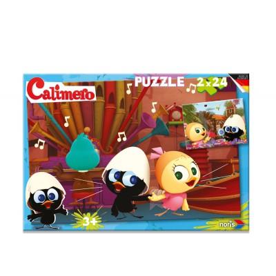 Noris-6060-38060 2 Puzzles - Calimero