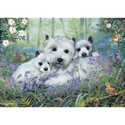 Puzzle  Otter-House-Puzzle-73338 Westies In The Wood