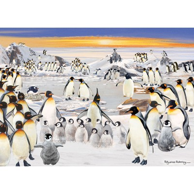 Puzzle  Otter-House-Puzzle-74135 Penguin Party