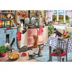 Puzzle  Otter-House-Puzzle-74750 Cats In The Kitchen