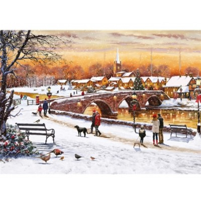Puzzle  Otter-House-Puzzle-75093 Winter Sunset