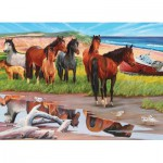Puzzle  Cobble-Hill-50701 Die Sandinsel