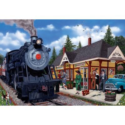 Puzzle  Cobble-Hill-50703 Kanada: Bahnhof von Kirkland Lake