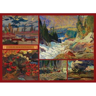 Puzzle  Cobble-Hill-51011 J.E.H. MacDonald - Collage - MacDonald Collection