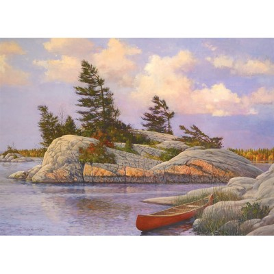 Puzzle  Cobble-Hill-51014 Douglas Laird - Red Canoe