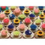 Puzzle  Cobble-Hill-51682 Cupcakes und Untertassen