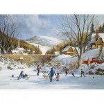 Puzzle  Cobble-Hill-51687 Hockey auf dem See