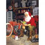 Puzzle  Cobble-Hill-51698 Tom Newsom: Die Flying Merkel des Weihnachtsmannes