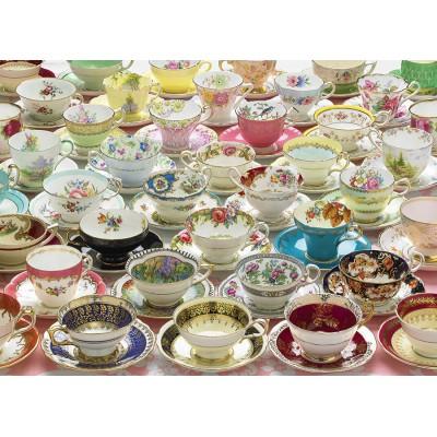 Puzzle Cobble-Hill-51775 Noch mehr Teetassen
