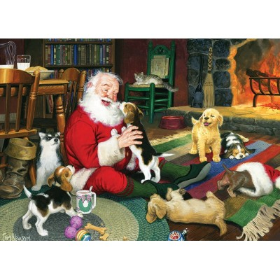 Puzzle  Cobble-Hill-51831 Tom Newsom: Santa's Playtime