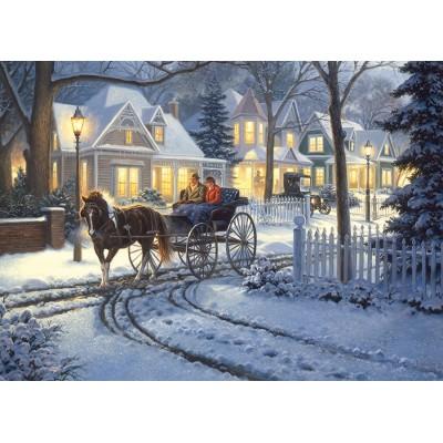 Puzzle Cobble-Hill-51834 Mark Keathley: Horse-Drawn Buggy