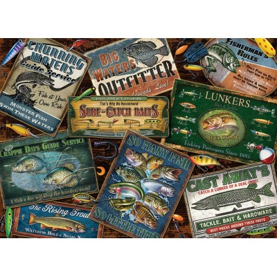 Puzzle  Cobble-Hill-51837 Fish Signs