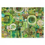 Puzzle  Cobble-Hill-51864-80149 Shelley Davies: Green