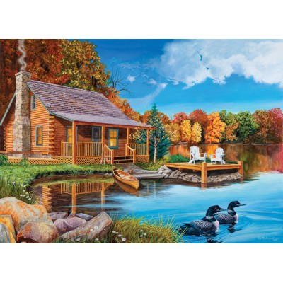 Puzzle  Cobble-Hill-52048 XXL Teile - USA - Loon Lake