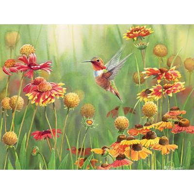 Puzzle Cobble-Hill-52078 XXL Teile - Susan Bourdet: Der rote Kolibri