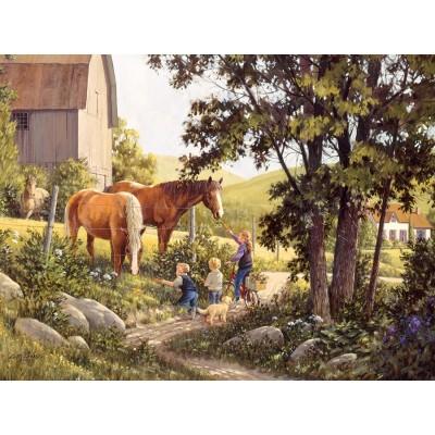 Puzzle  Cobble-Hill-52106 XXL Teile - Douglas Laird - Summer Horses