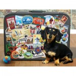 Puzzle  Cobble-Hill-52107 XXL Teile - Dachshund 'Round the World