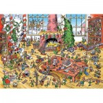 Puzzle  Cobble-Hill-53506 DoodleTown: Elves at Work