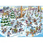 Puzzle  Cobble-Hill-53507 DoodleTown: Hockey Town