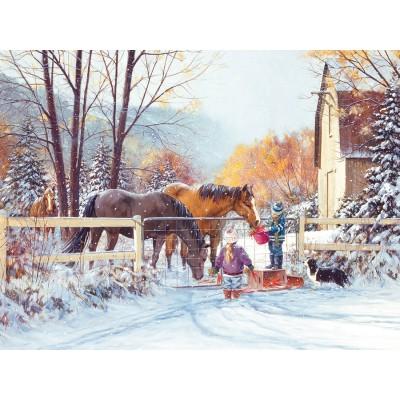 Puzzle  Cobble-Hill-54350 XXL Teile - Douglas Laird - First Snow