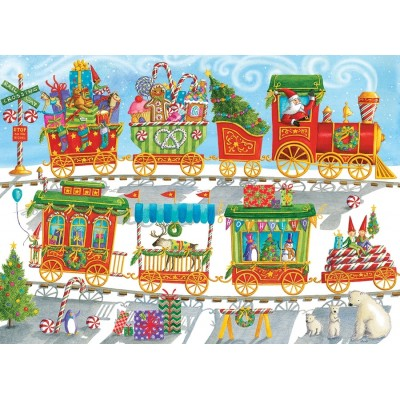 Puzzle Cobble-Hill-54608 XXL Teile - Christmas Train