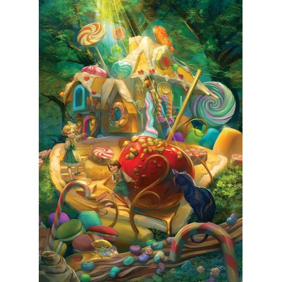 Puzzle  Cobble-Hill-54609 XXL Teile - Candy Cottage