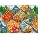 Puzzle  Cobble-Hill-54616 Lebkuchenhäuser