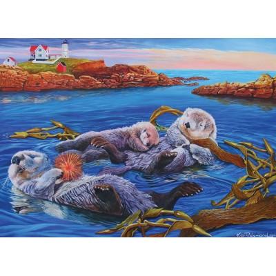 Puzzle Cobble-Hill-54619 XXL Teile - Sea Otter Family