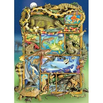 Puzzle Cobble-Hill-54620 XXL Teile - Reptiles and Amphibians