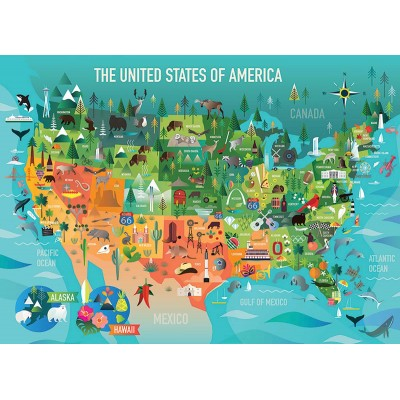 Puzzle  Cobble-Hill-54622 XXL Teile - The United States of America