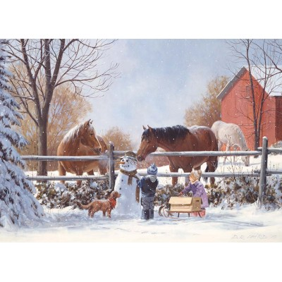 Puzzle  Cobble-Hill-54627 XXL Teile - Frosty's Friends